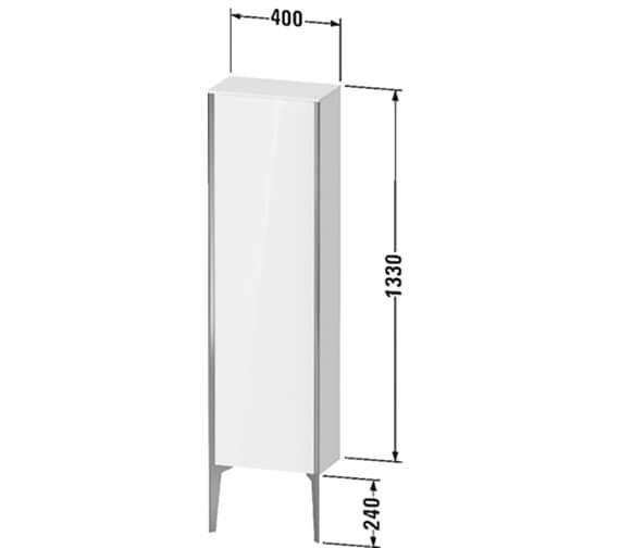 Technical drawing QS-V89508 / XV1305LB118