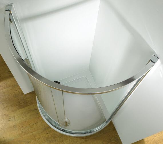 Kudos Original 1850mm High Curved Corner Sliding Shower Door
