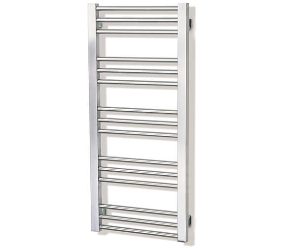 Aeon Zenith 380mm Wide Wall Mounted Stainless Steel Towel Rail