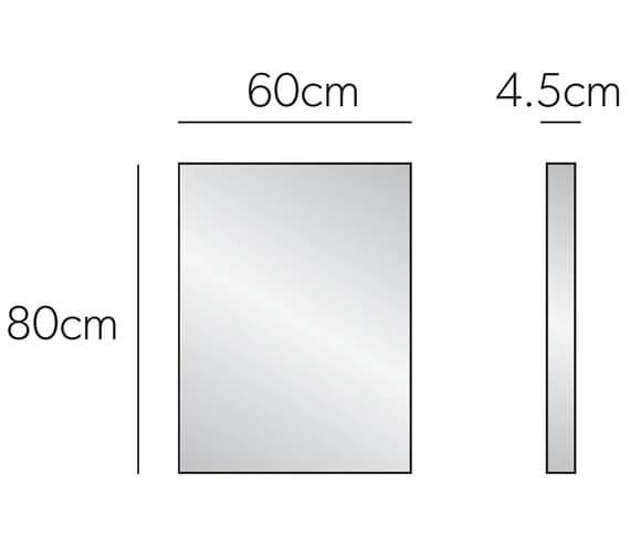 Additional image of HIB Triumph 50 Bathroom Mirror 500 x 700mm - 78100000