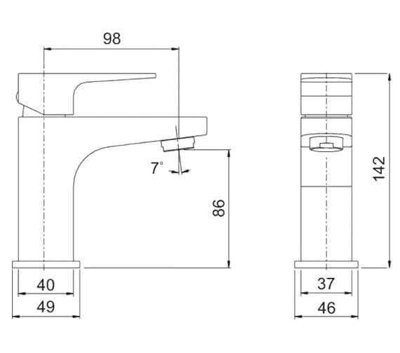 Technical drawing QS-V88765 / AMBMCPUK
