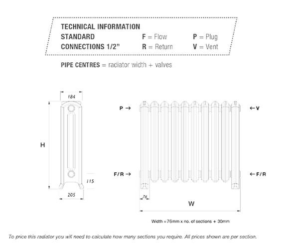 Technical drawing QS-V88815 / CR/BRO/510/3-SC