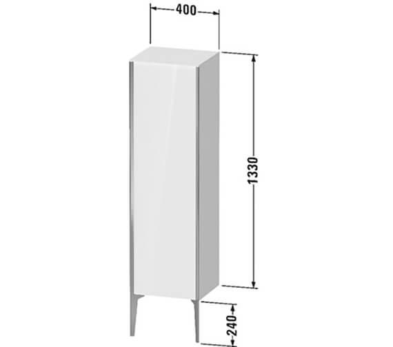 Technical drawing QS-V89509 / XV1325LB118
