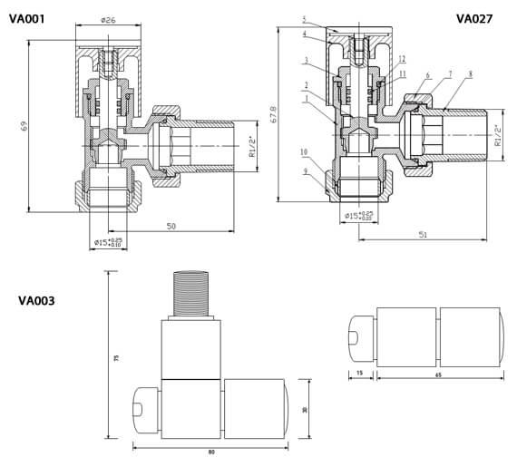 Technical drawing QS-V60432 / VA001