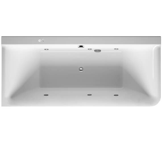 Duravit P3 Comforts 1800 x 800mm Corner Left Bath With Panel - Jet System