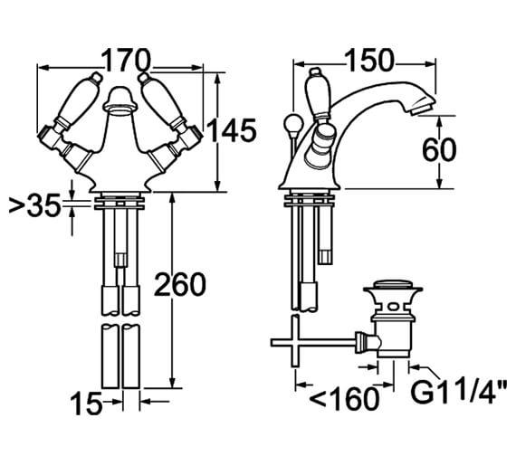Technical drawing QS-V45124 / GE04