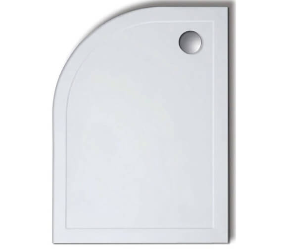 Lakes Standard Height 80mm Offset Quadrant Stone Resin Tray