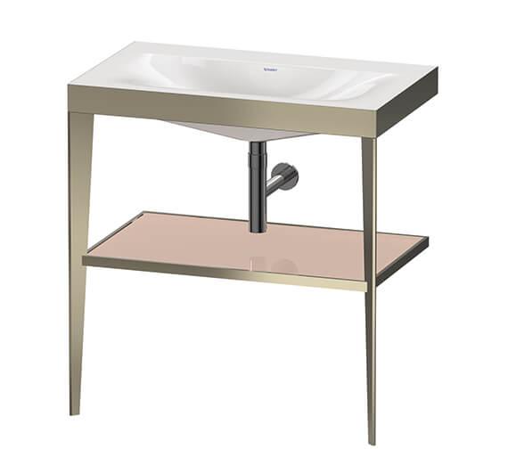 Duravit Xviu C Bonded Floor Standing Washbasin With Metal Console