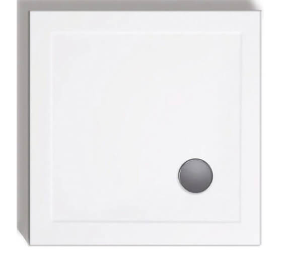 Lakes Standard Height 80mm Stone Resin Square Shower Tray With Waste