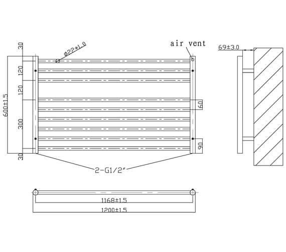 Technical drawing QS-V6578 / RA322