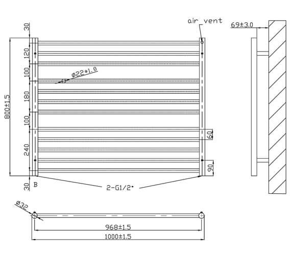 Technical drawing QS-V6576 / RA320
