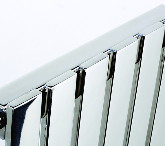 Additional image of Kartell K-Rad Florida Stainless Steel Designer Radiator 490 x 600mm