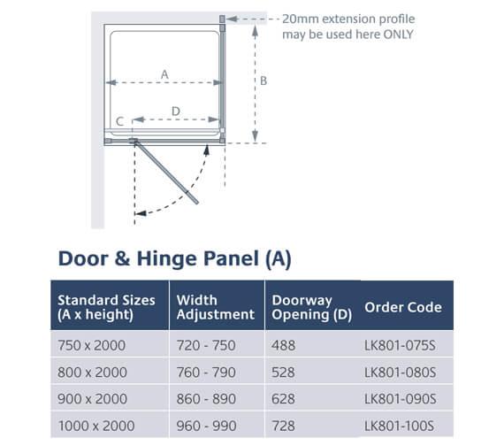 Technical drawing QS-V13914 / LK801-075S