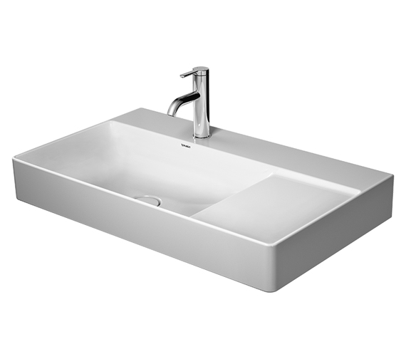 Duravit DuraSquare Furniture 800mm Washbasin Asymmetric Ground