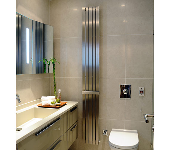 Kartell K-Rad Idaho Brushed Stainless Steel Designer Radiator 240 x 1500mm