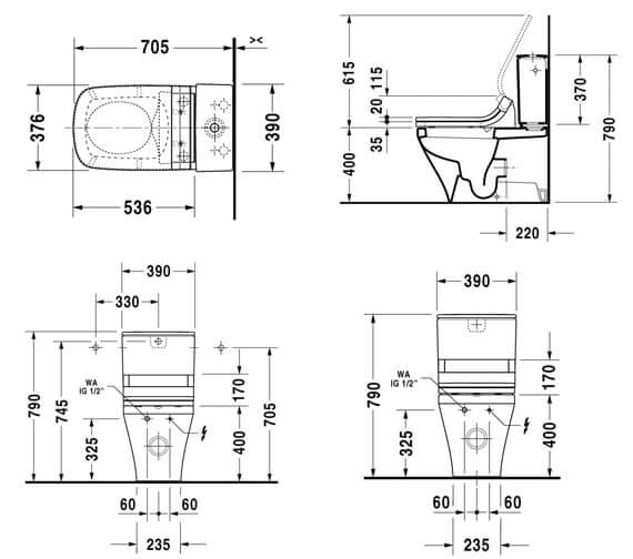 Technical drawing QS-V63470 / 2156590000