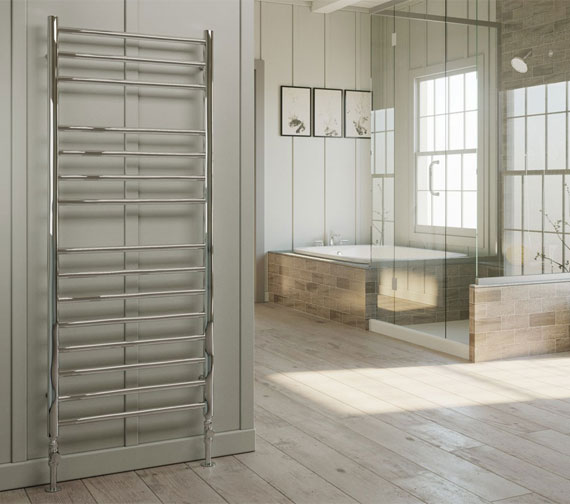 DQ Heating Siena Polished Stainless Steel Heated Towel Rail