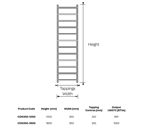 Technical drawing QS-V99244 / CON350-1200