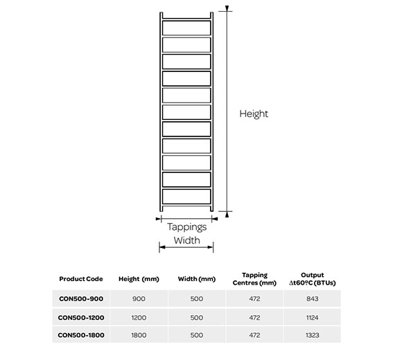 Technical drawing QS-V99245 / CON500-900
