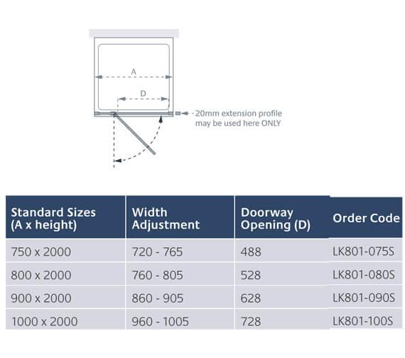 Technical drawing QS-V13910 / LK801-075S