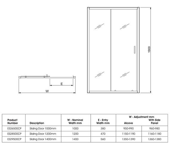 Technical drawing QS-V27470 / ES26500CP
