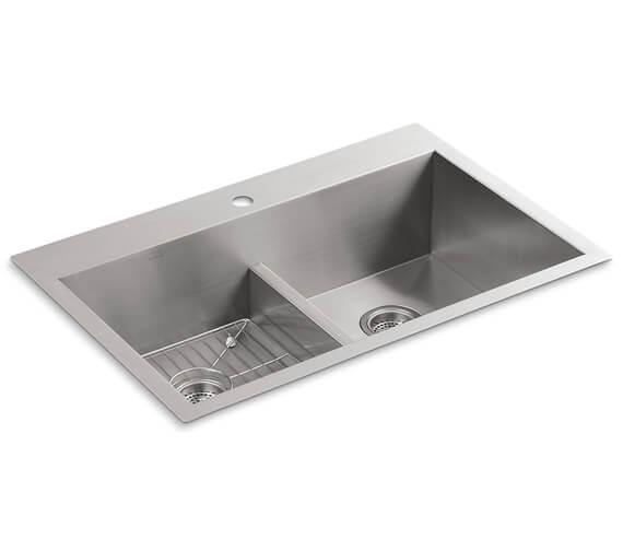 Kohler Vault Inset OR Under-mount Smart Divide Double Equal Bowl Kitchen Sink