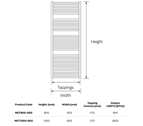 Technical drawing QS-V99250 / MET800-600