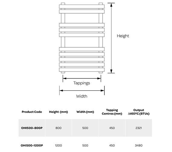 Technical drawing QS-V99251 / OHI500-800P
