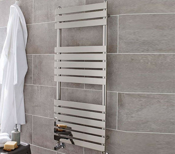 Kartell K-Rad Memphis Chrome Designer Heated Towel Rail
