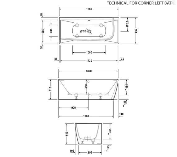 Technical drawing QS-V90460 / 700427000000000