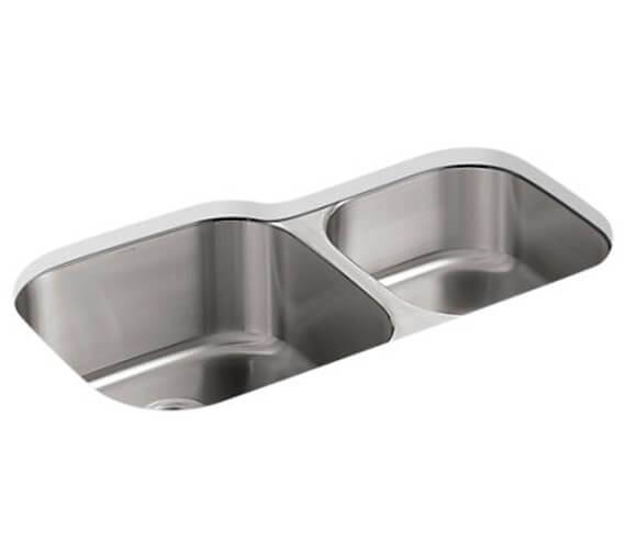 Kohler Icerock 892mm Double Bowl Under Mount Sink