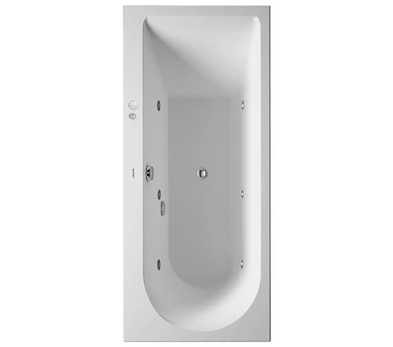 Duravit Darling New Built-In Or For Panel Whirlpool Bath With One Backrest Slope