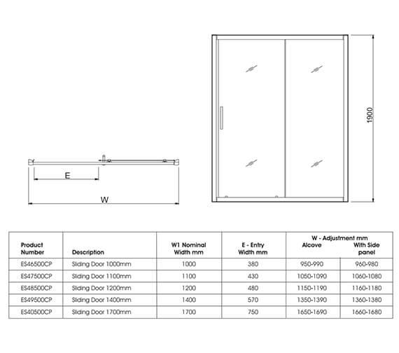 Technical drawing QS-V27489 / ES46500CP