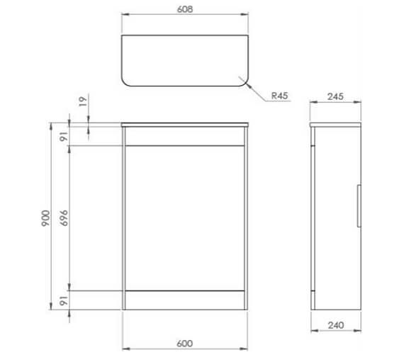 Technical drawing QS-V95927 / HY060S.MW