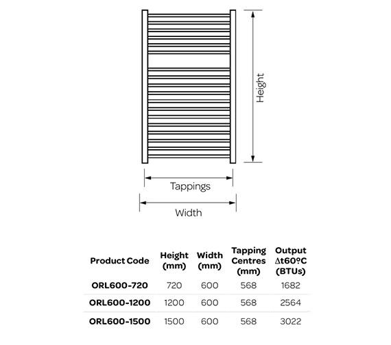 Technical drawing QS-V99253 / ORL600-720