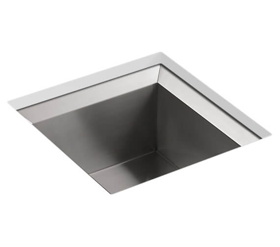Kohler Poise Stainless Steel 457mm Under Mount Sink With No Tap Hole