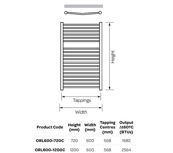 Technical drawing QS-V99255 / ORL600-720C