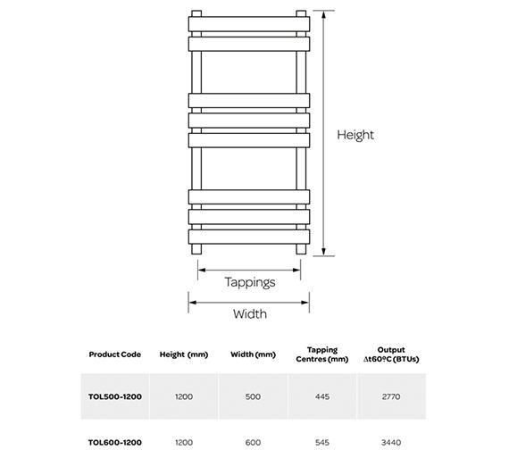 Technical drawing QS-V99256 / TOL500-1200
