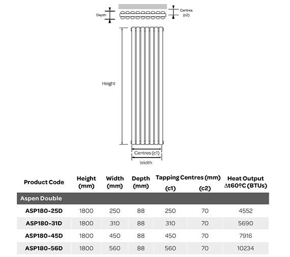 Technical drawing QS-V99261 / ASP180-25D
