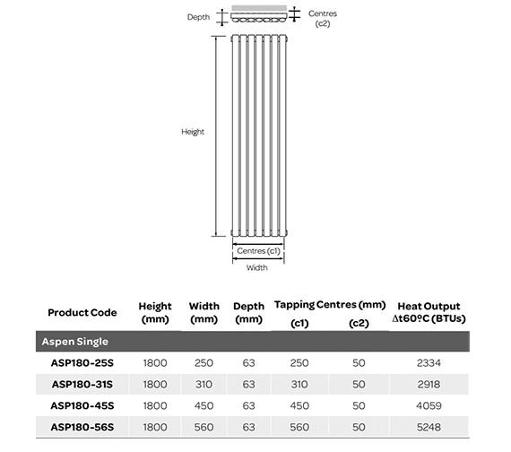 Technical drawing QS-V99262 / ASP180-25S