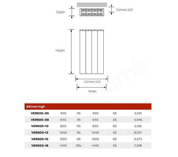 Technical drawing QS-V99259 / VER600-05
