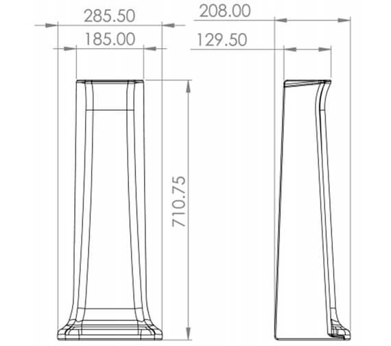 Technical drawing QS-V95930 / SOB40.1