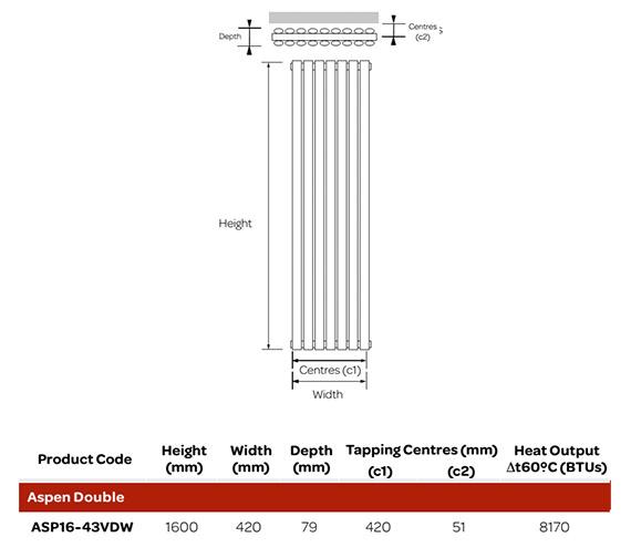 Technical drawing QS-V99260 / ASP16-43VDW