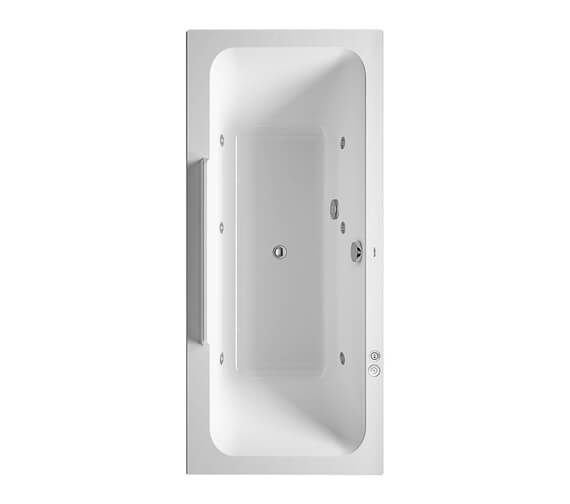 Duravit DuraStyle Rectangular Whirlpool Bath With Two Backrest Slope