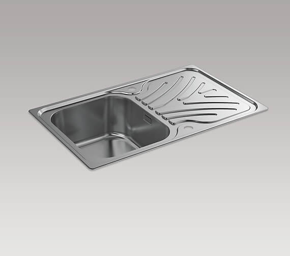 Kohler Ease 800mm Inset Sink With Draining Board
