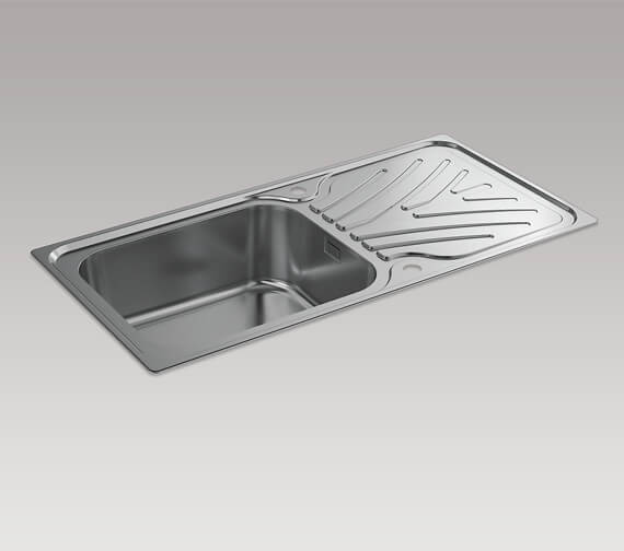 Alternate image of Kohler Ease 800mm Inset Sink With Draining Board