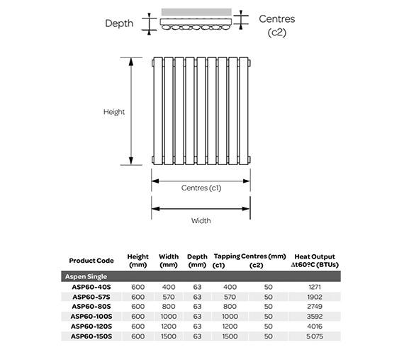 Technical drawing QS-V99266 / ASP60-40S