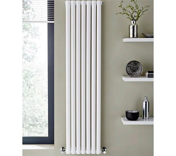 Kartell K-Rad Aspen Single Sided 1800mm Height White Vertical Designer Radiator