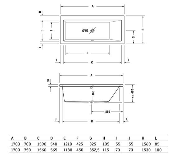 Technical drawing QS-V74191 / 700131000000000