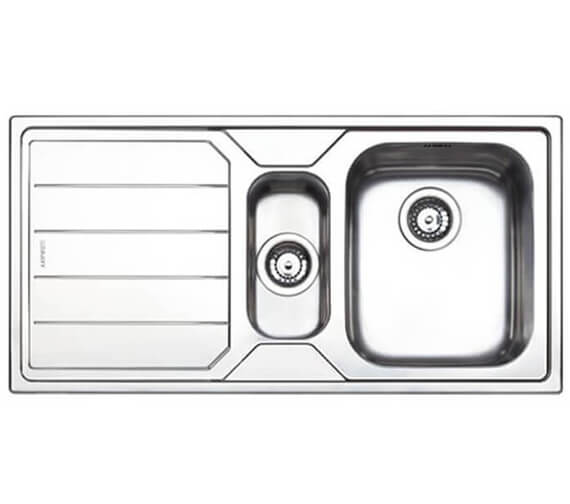 Clearwater Linear 1000 x 500mm 1.5 Kitchen Sink Bowl And Drainer
